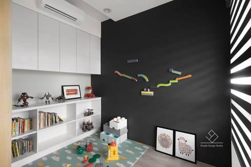 遊戲房設計:  嬰兒/兒童房 by 極簡室內設計