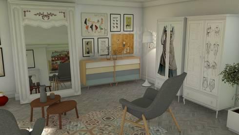 Living room 2018: Salones de estilo moderno de Blophome