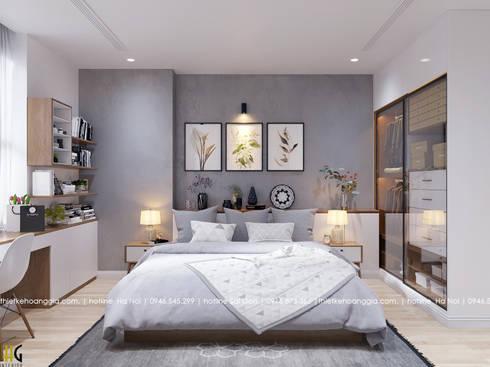 Thiết kế nội thất chung cư 55m cho chị Lan Anh:  Phòng ngủ by Nội Thất Hoàng Gia