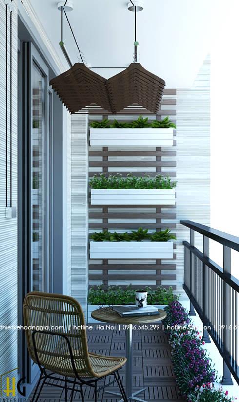 Thiết kế nội thất chung cư 55m cho chị Lan Anh:  Hành lang by Nội Thất Hoàng Gia