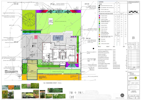 Soft landscaping plan for estate development:   by Lemontree Landscape architecture and Design