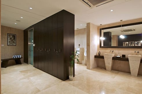 Lodha Bellissimo Clubhouse: modern Bathroom by Racheta Interiors Pvt Limited