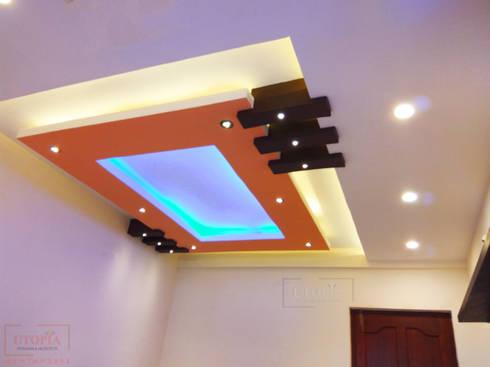 Modern False ceiling: modern Bedroom by Utopia Interiors & Architect