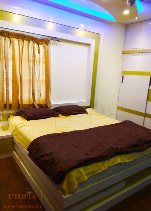 Bedroom interior design: modern Bedroom by Utopia Interiors & Architect