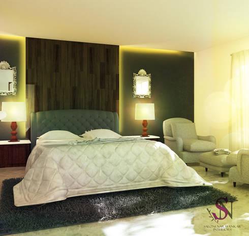 Apartment, Jubilee Hills: modern Bedroom by Saloni Narayankar Interiors