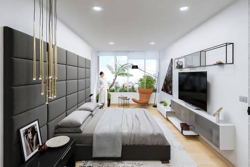 Apartamento de lujo: Dormitorios de estilo  por Homeshopper