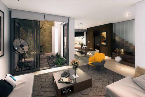 Casa de lujo: Salones de estilo  por Homeshopper