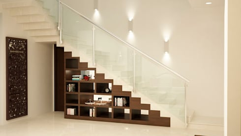 Stairs open display and storage :  Stairs by NVT Quality Build solution