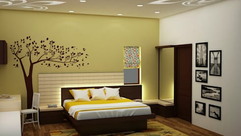 Backlit headboard : asian Bedroom by NVT Quality Build solution