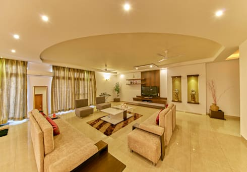Living area : modern Living room by NVT Quality Build solution