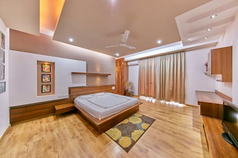 Master Bedroom: modern Bedroom by NVT Quality Build solution