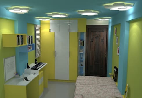 Shriyans Apartment Pune—Mr Ashish: modern Nursery/kid's room by DECOR DREAMS