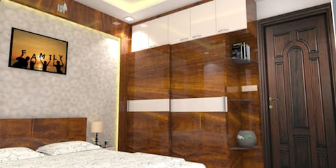 Shriyans Apartment Pune—Mr Ashish: modern Bedroom by DECOR DREAMS