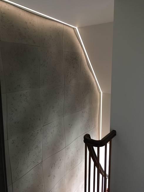 Wandgestaltung - Treppenhaus, Gang, Fluor von Loft Design System ...
