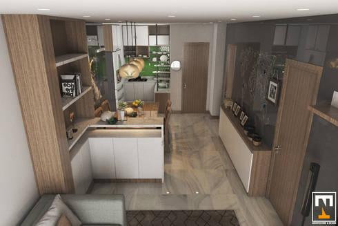INTERIOR HAKA BOUTIQUE:  Nhà bếp by NT.DESIGN