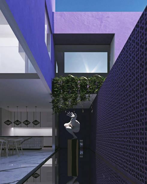 CASA GDL: Estanques de jardín de estilo  por Obed Clemente Arquitectura