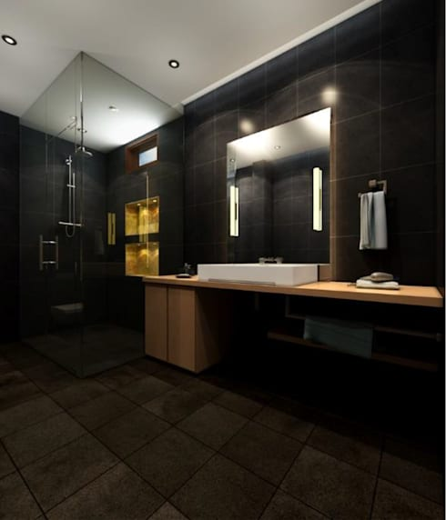 Suneja Residence Interior Design: modern Bathroom by Rhomboid Designs