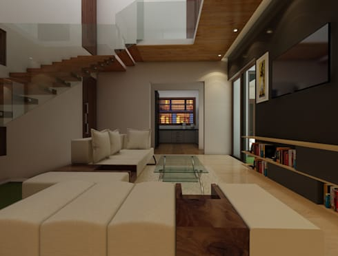Bihani Residence and Interiors: modern Media room by Rhomboid Designs