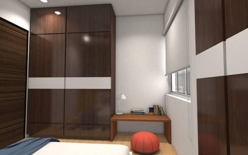Kids Bedroom: minimalistic Bedroom by Rhomboid Designs