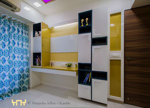 3BHK Apartment: minimalistic Nursery/kid's room by solids and voids