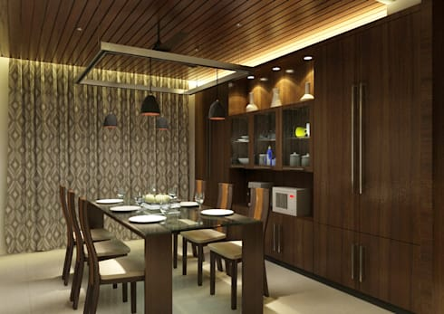 Venkat's Residence,Tirupathi: eclectic Dining room by M/s Studio7 Architects