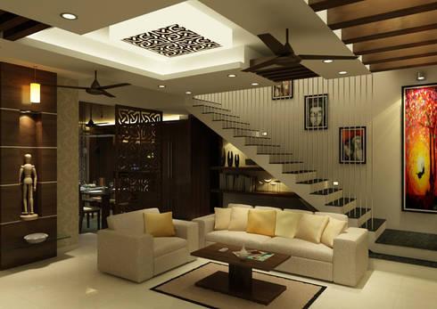 Venkat's Residence,Tirupathi: eclectic Living room by M/s Studio7 Architects