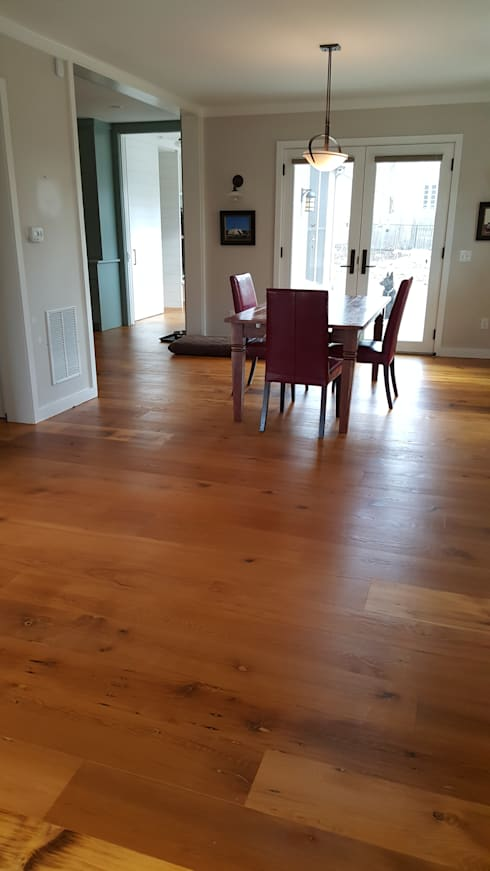 rustic Dining room by Shine Star Flooring