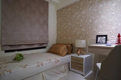 步上幸福的軌道:  臥室 by 雅和室內設計
