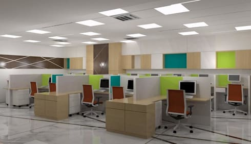 Cubicle Interior :   by RID INTERIORS