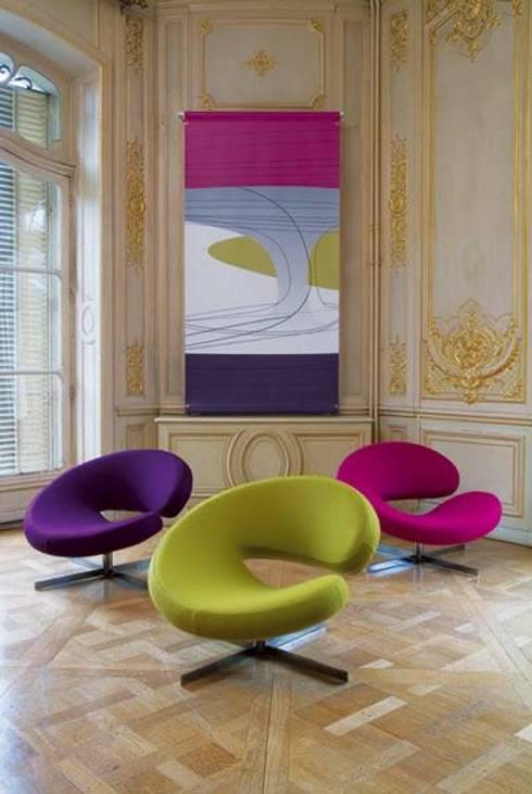 LIVING ROOM:   by Roche Bobois