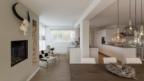 interieur woonhuis: moderne Serre door CHORA architecten