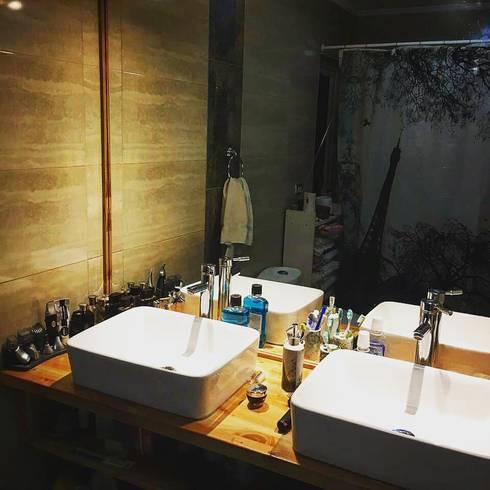Baño principal: Baños de estilo rural por casa rural