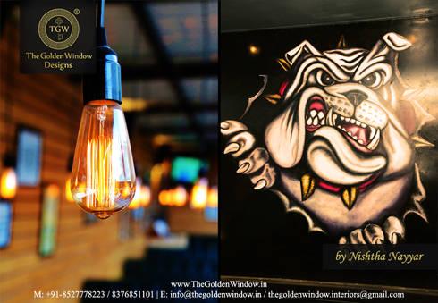 0124 Bar Exchange, Gurgaon:  Interior landscaping by The Golden Window Designs