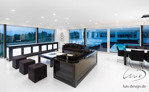 minimalistic Living room by Luis Design