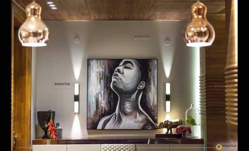 Farmhouse in Kundli - Lighting: modern Living room by Jainsons Emporio