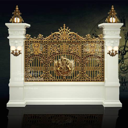 Hàng rào phù điêu buckingham:  Biệt thự by Cổng nhôm đúc Thiên Thanh Bảo