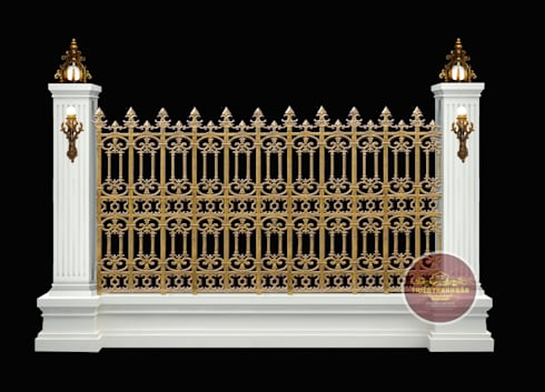 Hàng rào nhôm đúc mẫu 005:  Biệt thự by Cổng nhôm đúc Thiên Thanh Bảo