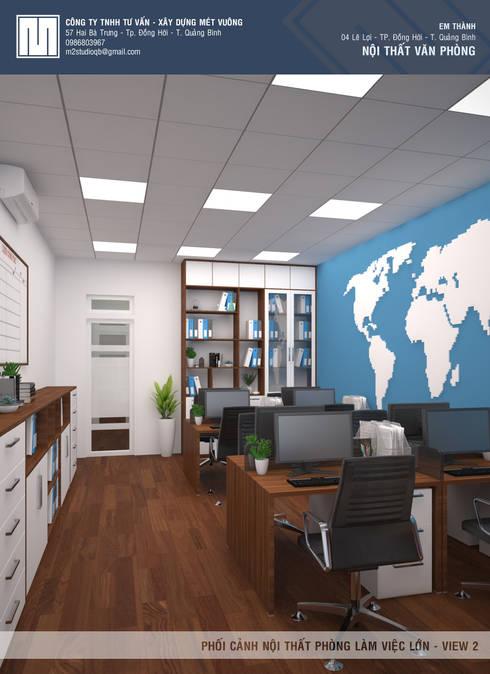 Phòng làm việc công ty Tiến Thành:   by Mét Vuông