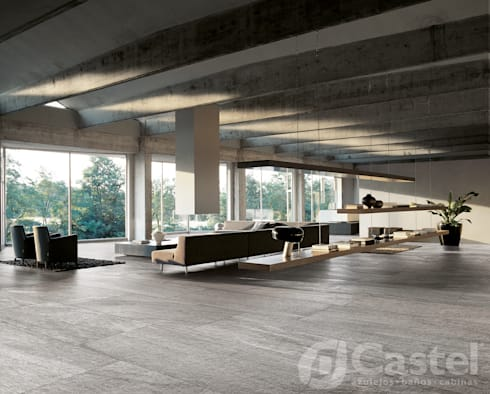 Porcelanato Flagstone / Castel: Hoteles de estilo  por Skyfloor