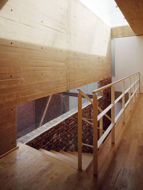 Vestíbulo Escalera: Pasillos y recibidores de estilo  por Eduardo Gutiérrez Taller de Arquitectura