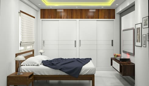 Master bedroom:   by Aamuktha Designs