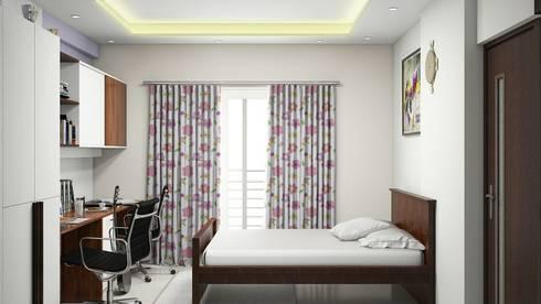 Bedroom:   by Aamuktha Designs