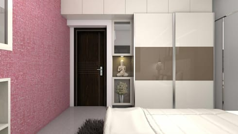 Interiors: modern Bedroom by Kruthi Interiors