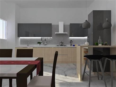 Interiors: modern Kitchen by Kruthi Interiors