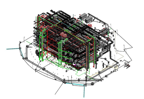 MEP Model of Data Center:   by AutoCAD Drafting India