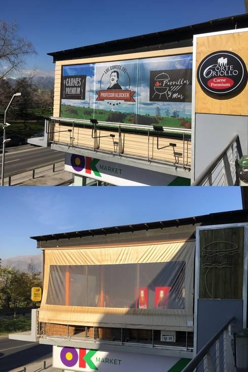Fachada Local Comercial:  de estilo  por Constructora ANyG
