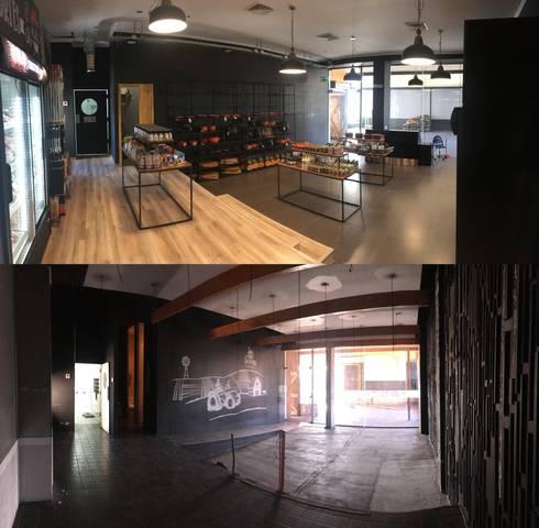 Remodelación local comercial:  de estilo  por Constructora ANyG