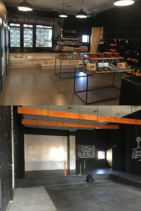 antes y después local comercial :  de estilo  por Constructora ANyG