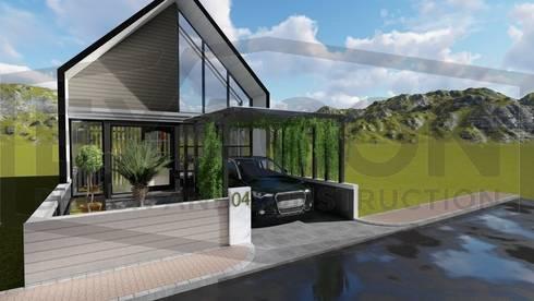 Proyek Rumah Minimalis Tropis Bapak Andrey - Bekasi 4:   by Exacon Multi Rekayasa