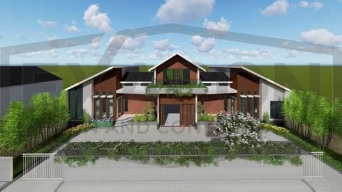 Proyek Rumah Minimalis Modern Bapak Rafa - Depok 1 EXACON:   by Exacon Multi Rekayasa